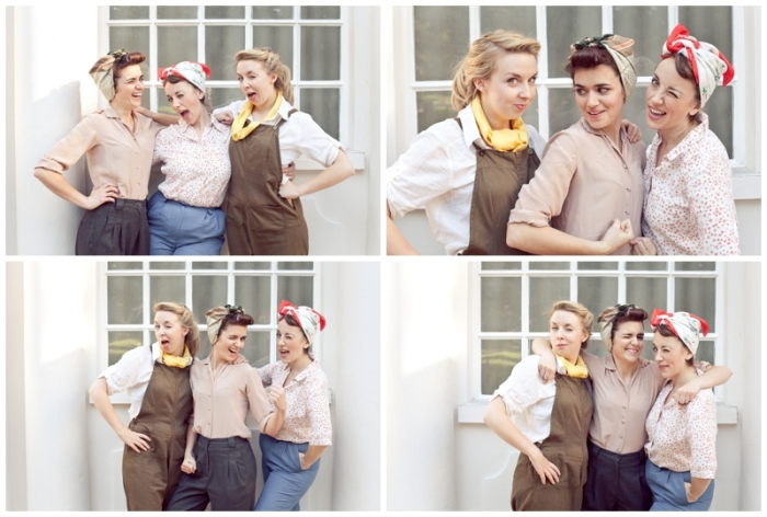 Brighton, brighton promo shoot, Brighton music promo shoot, The Victory Dolls, Brighton harmony group, 40s girl band, Emma Longbottom, Catherine Ireton, Vicky Tremain, Laurenbythesea Photography, portrait photographer Sussex, portrait photographer Kent, vintage style photo shoot, vintage clothes Brighton, To Be Worn Again Brighton,  working girls. 40s style, 50s style, vintage bikes, vintage styled shoot, vintage photos brighton, vintage shoes,