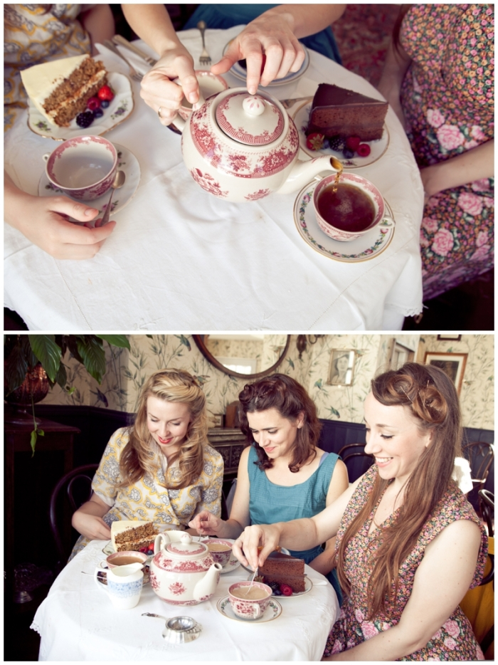Brighton, brighton promo shoot, Brighton music promo shoot, traditional tearooms, The Victory Dolls, Brighton harmony group, 40s girl band, Laurenbythesea Photography, portrait photographer Sussex, portrait photographer Kent, vintage style photo shoot, vintage clothes, To Be Worn Again Brighton, The South Lanes Brighton, Blackbird tea rooms Brighton, Blackbird, tea rooms Brighton