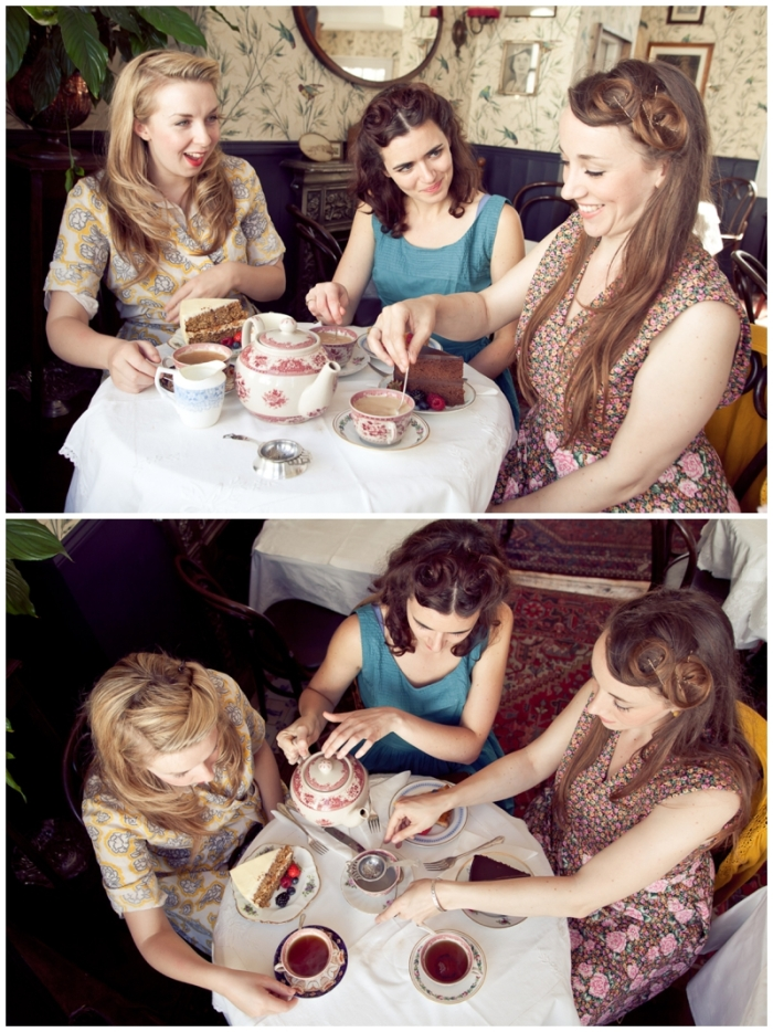 Brighton, brighton promo shoot, Brighton music promo shoot, The Victory Dolls, Brighton harmony group, 40s girl band, Laurenbythesea Photography, portrait photographer Sussex, portrait photographer Kent, vintage style photo shoot, vintage clothes, To Be Worn Again Brighton, The South Lanes Brighton, Blackbird tea rooms Brighton, Blackbird, traditional tea rooms Brighton,