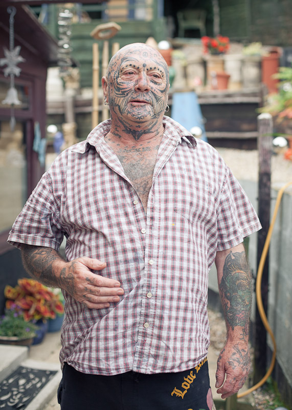 tattoed man, tattoos, head to toe tattoos, tattoos all over, people with tattoos everywhere, street photography, laurenbythesea photography, kent photographer, kent portrait photographer, kent people photographer, tattoo photography, tattoos
